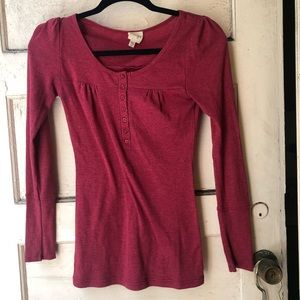 Energie Cozy knit Red long sleeve knit shirt tee